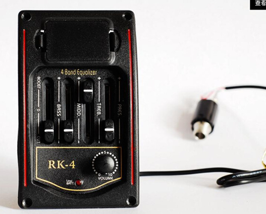 Acoustic RK-4 Equalizer Guitar Preamp Piezo Pickup